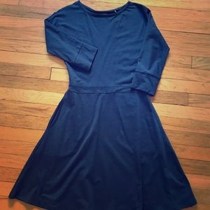 Toad&Co. 3/4 sleeve navy blue dress. NWT!!!
